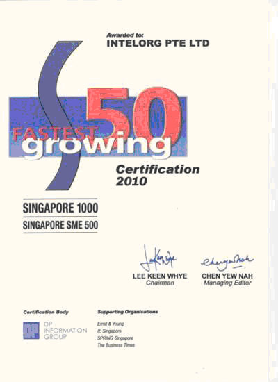 Top 50 Singapore Faster Growing Company