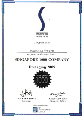Singapore S1000 Most Emerging Company